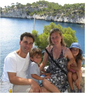 Salpekar Family pic outside of Cassis